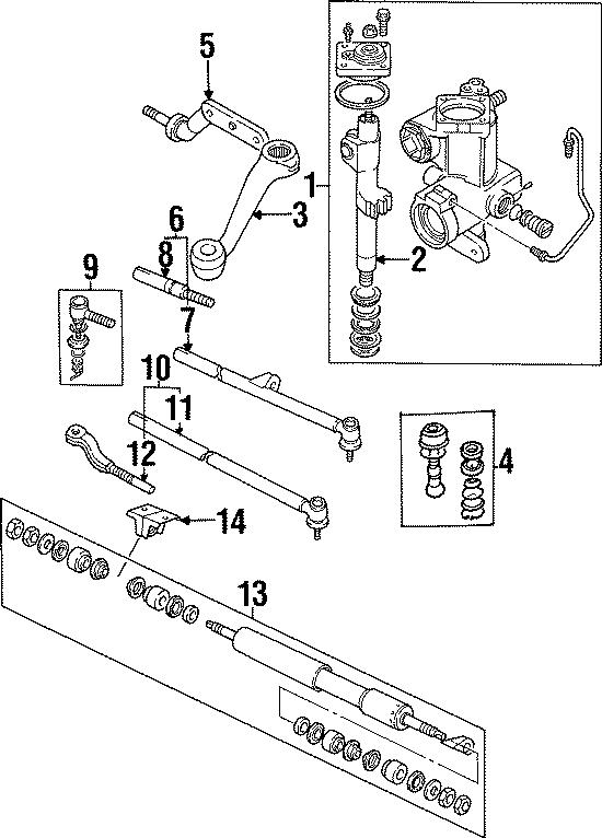 1999 Land Rover Discovery Steering Damper. Steering damper