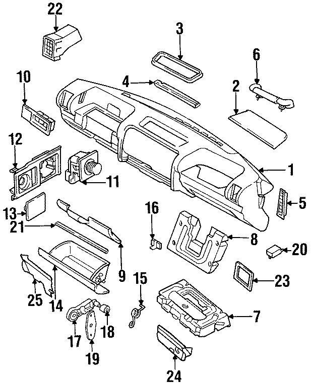 2001 Land Rover Discovery Glove Box Door Striker. Striker