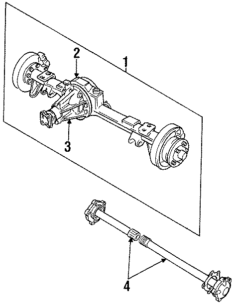 1998 Land Rover Discovery Axle. (Rear). Discovery. Range