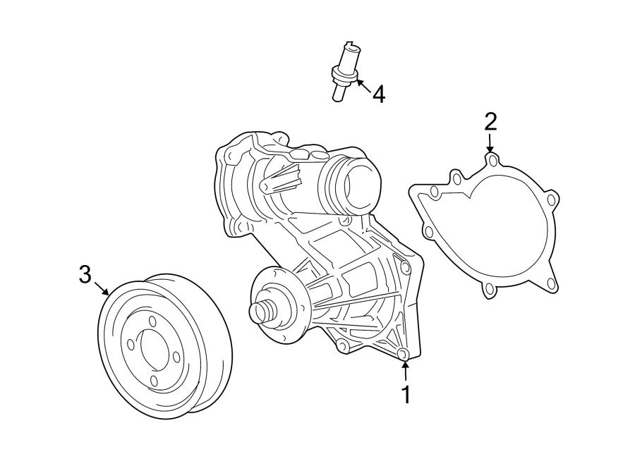 2005 Land Rover Range Rover Engine Water Pump Gasket. 2003