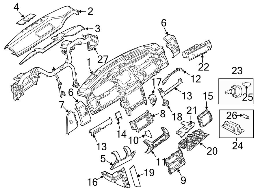 2008 Land Rover Range Rover Instrument Cluster Bezel. 2007