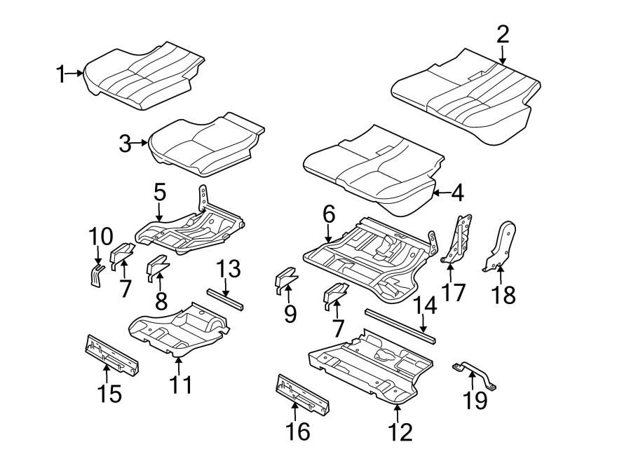 2006 Land Rover Range Rover Seat Trim Panel. SEAT BOTTOM