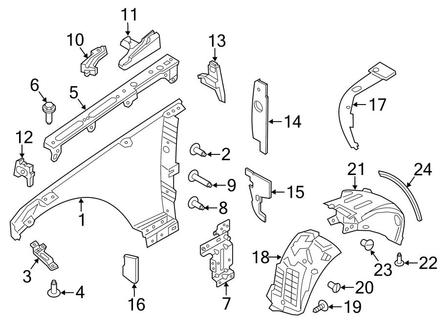 2016 Land Rover Range Rover Fender Insulator. INSULATOR