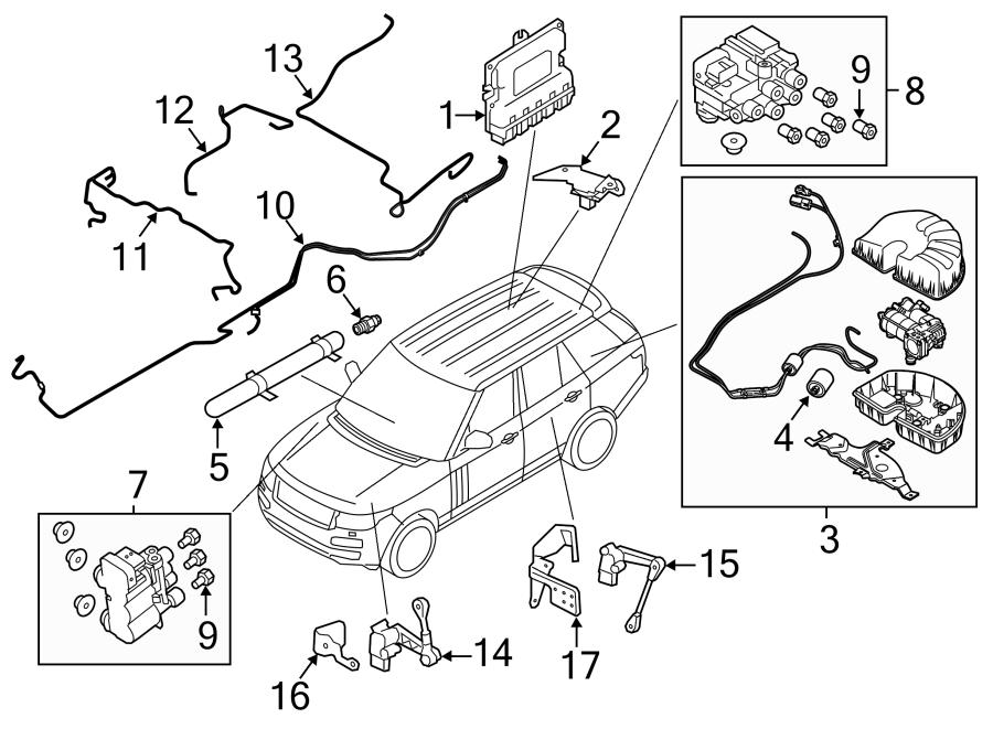 Land Rover Range Rover Air Suspension Compressor