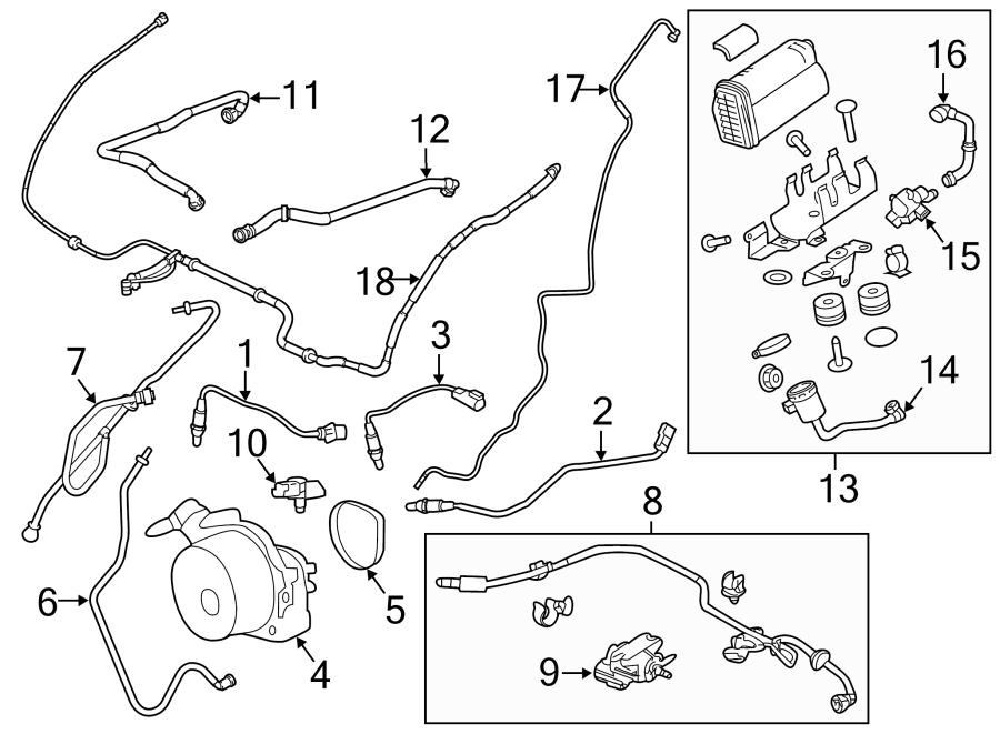 2018 Land Rover Range Rover Pcv valve hose. 3.0 liter gas