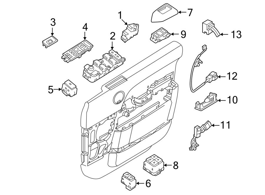 2014 Land Rover Range Rover Door Switch Trim Panel