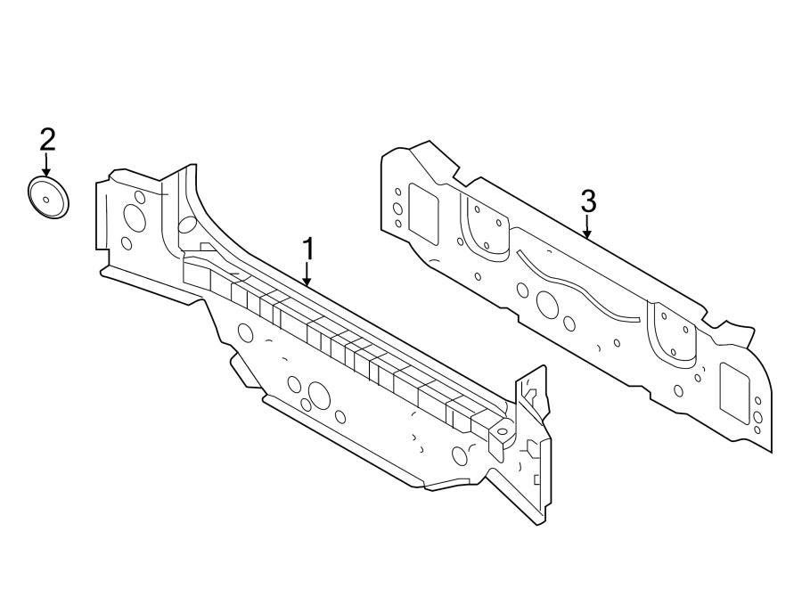 2018 Land Rover Range Rover Body Access Plug. Inner panel
