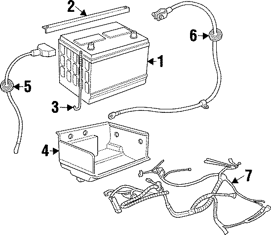 1994 Land Rover Defender 90 Battery hold down. CLAMP