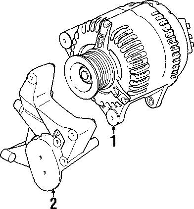 1997 Land Rover Defender 90 Alternator. 100 Amp. Early