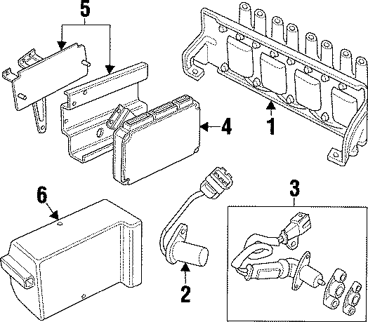 1997 Land Rover Discovery Engine Camshaft Position Sensor