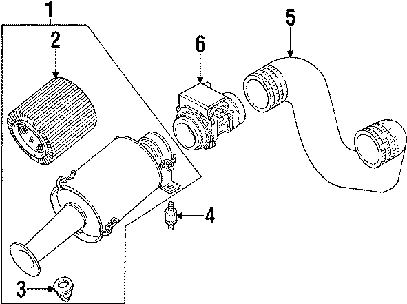 1997 Land Rover Defender 90 Mass Air Flow Sensor. Mass Air