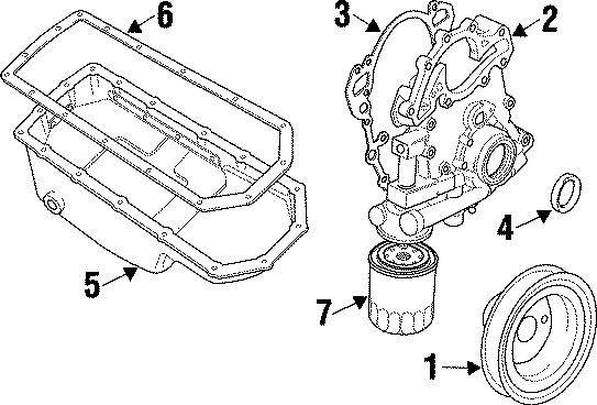 1997 Land Rover Defender 90 Engine Oil Pan Gasket. Gasket