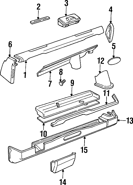 1997 Land Rover Defender 90 Fastener. Package tray clip