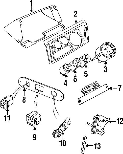 1997 Land Rover Defender 90 Hazard switch. CLUSTER