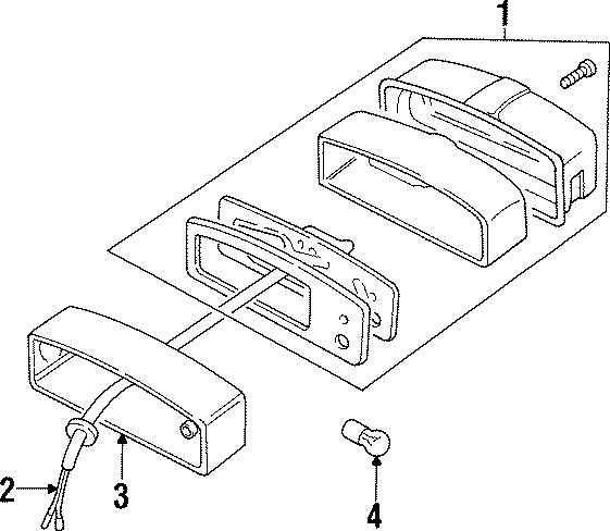 1997 Land Rover Defender 90 License lamp case. PLINTH