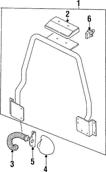 1997 Land Rover Defender 90 Cover bracket. SOFT TOP