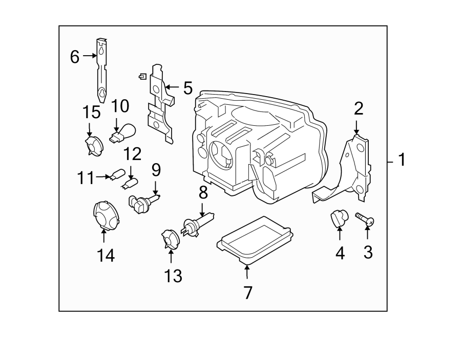 2006 Land Rover LR3 Composite assembly. Headlight assembly
