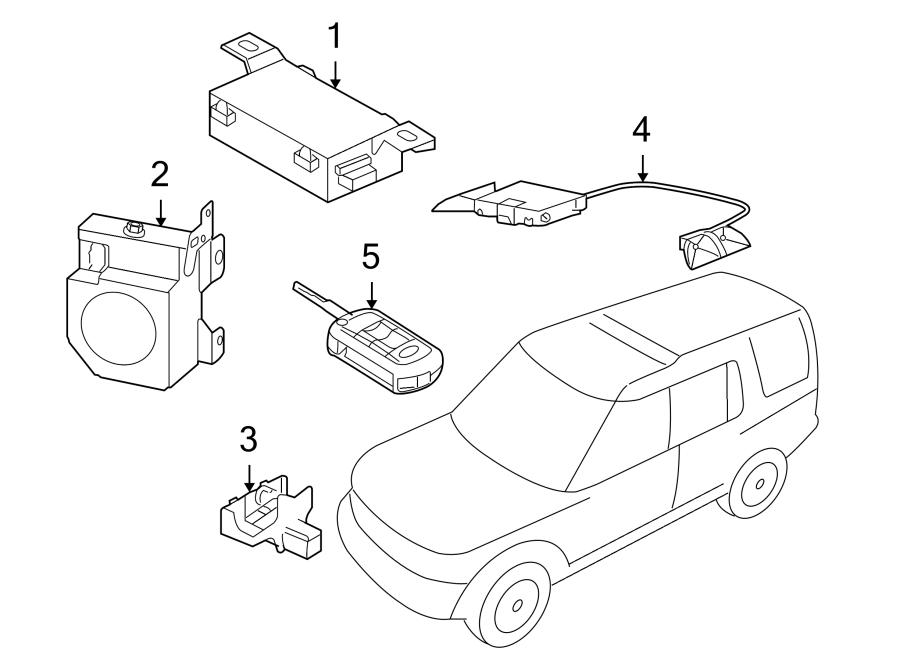 2006 Land Rover LR3 Anti-Theft Alarm Control Unit
