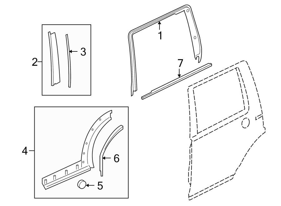 2006 Land Rover LR3 Door Molding Clip. Fender Flare Clip