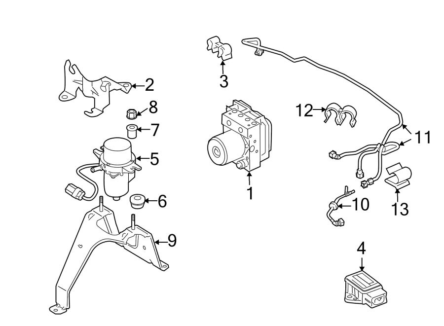 2013 Land Rover Range Rover Suspension Yaw Sensor