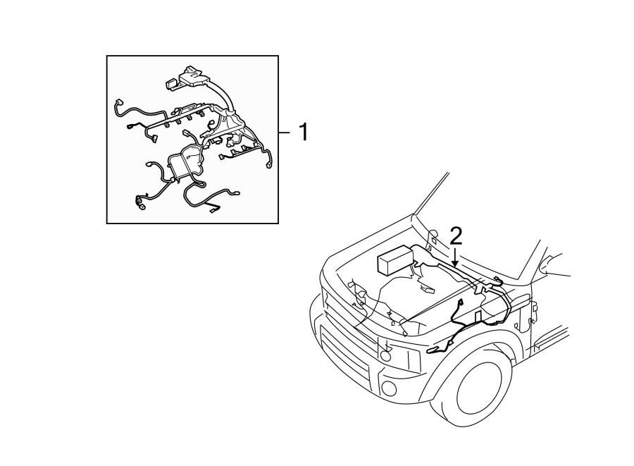2010 Land Rover Range Rover Sport Engine Wiring Harness