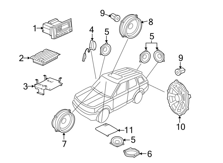 2006 Land Rover Range Rover Sport Speaker. Woofer. 2006-09