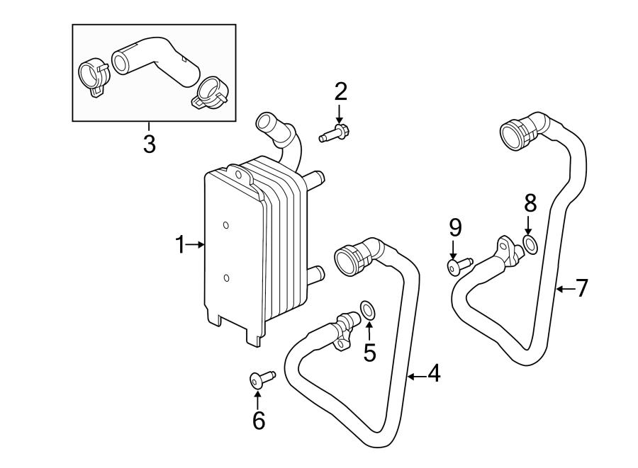 2013 Land Rover LR2 Automatic Transmission Oil Cooler Hose