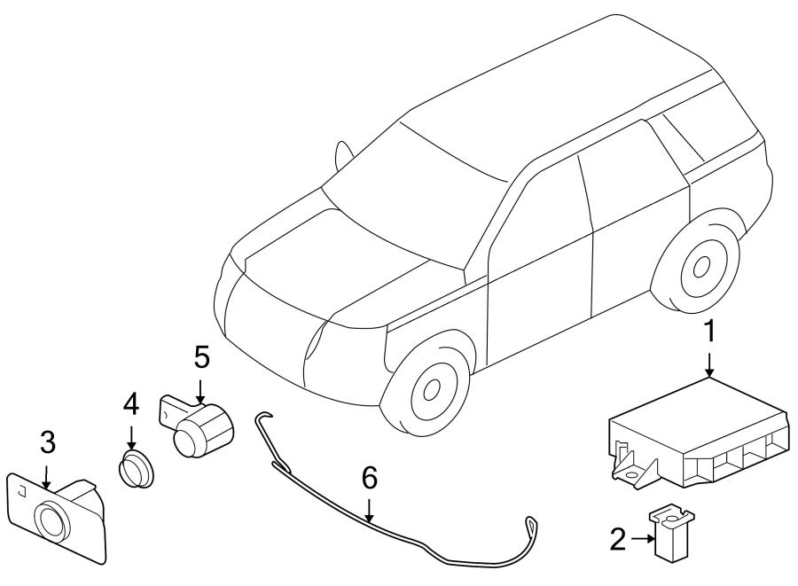 2012 Land Rover LR2 Parking Aid Control Module. LR2; w/o