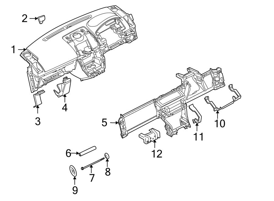 2014 Land Rover LR2 Dashboard Panel. Instrument panel