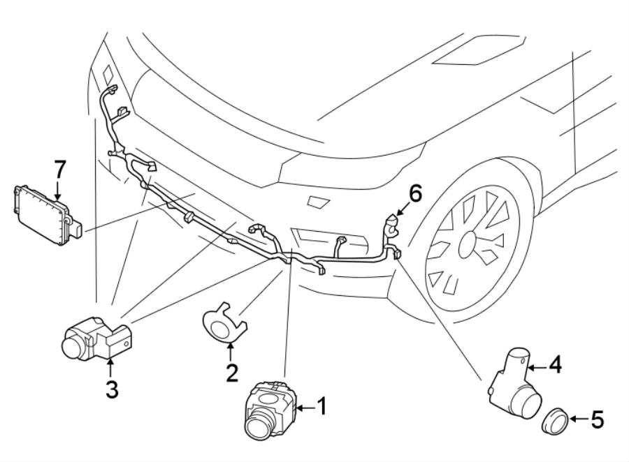 2018 Land Rover Range Rover Sport Auto park sensor. SENSOR