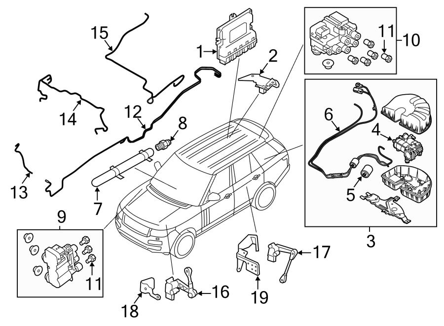 2016 Land Rover Range Rover Sport Air cntrl valve