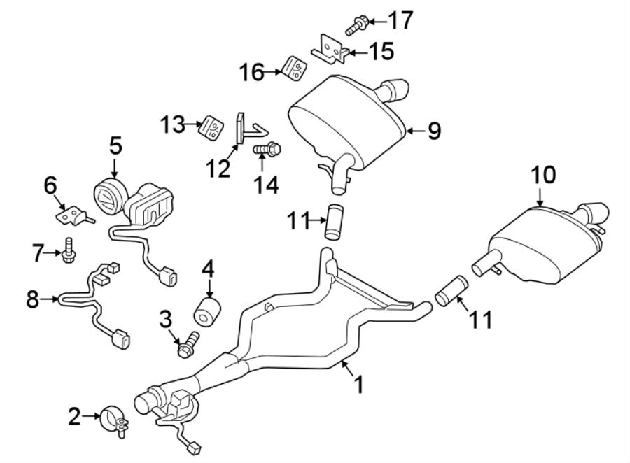 2018 Land Rover Range Rover Sport Exhaust Intermediate