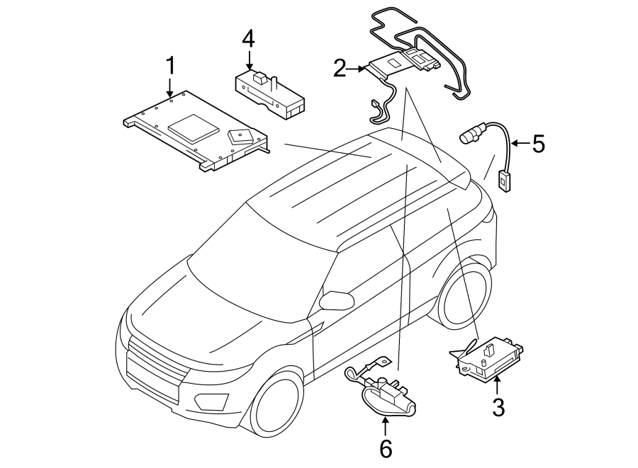 2018 Land Rover Range Rover Evoque Antenna Amplifier