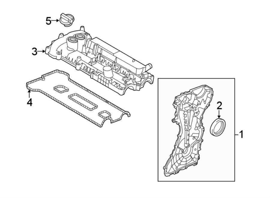 2018 Land Rover Range Rover Evoque Engine Oil Filler Cap