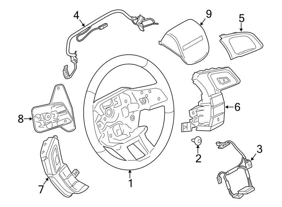 2015 Land Rover Range Rover Evoque Steering Wheel