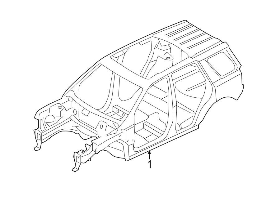 2016 Land Rover Range Rover Evoque Body ASSEMBLY