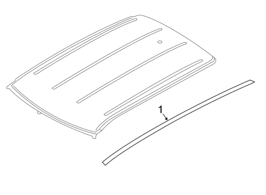 2016 Land Rover Range Rover Evoque Roof Molding (Right). W