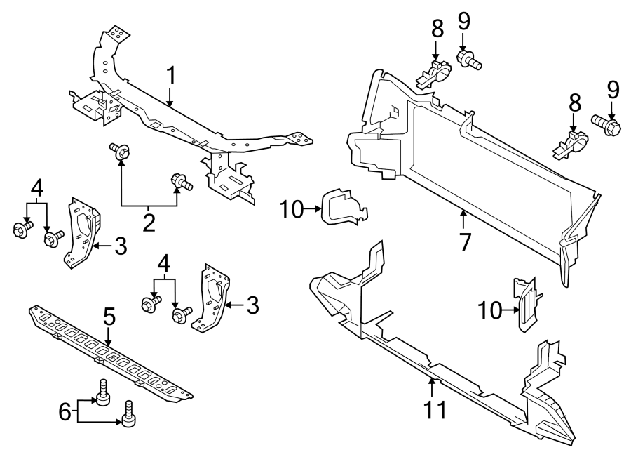 2018 Land Rover Discovery Sport Radiator Support Air