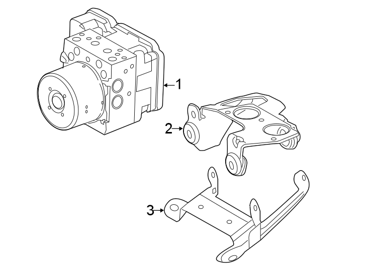 2018 Land Rover Discovery Sport Abs hydraulic assembly