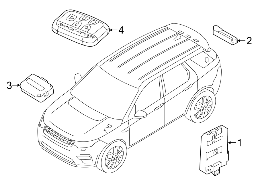 2018 Land Rover Discovery Sport Keyless Entry Transmitter