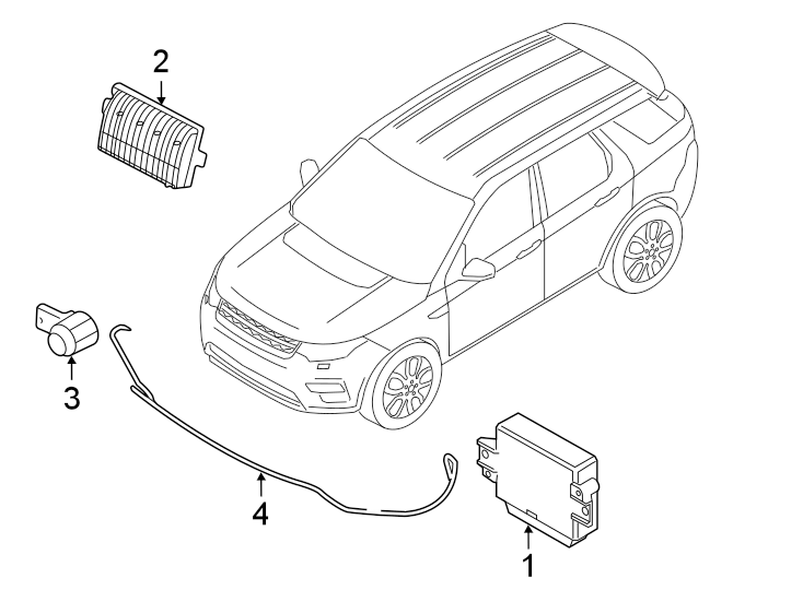 2015 Land Rover Discovery Sport Parking Aid System Wiring