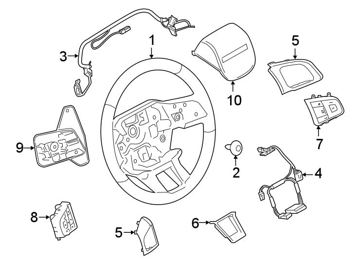 2017 Land Rover Discovery Sport Steering Wheel Radio