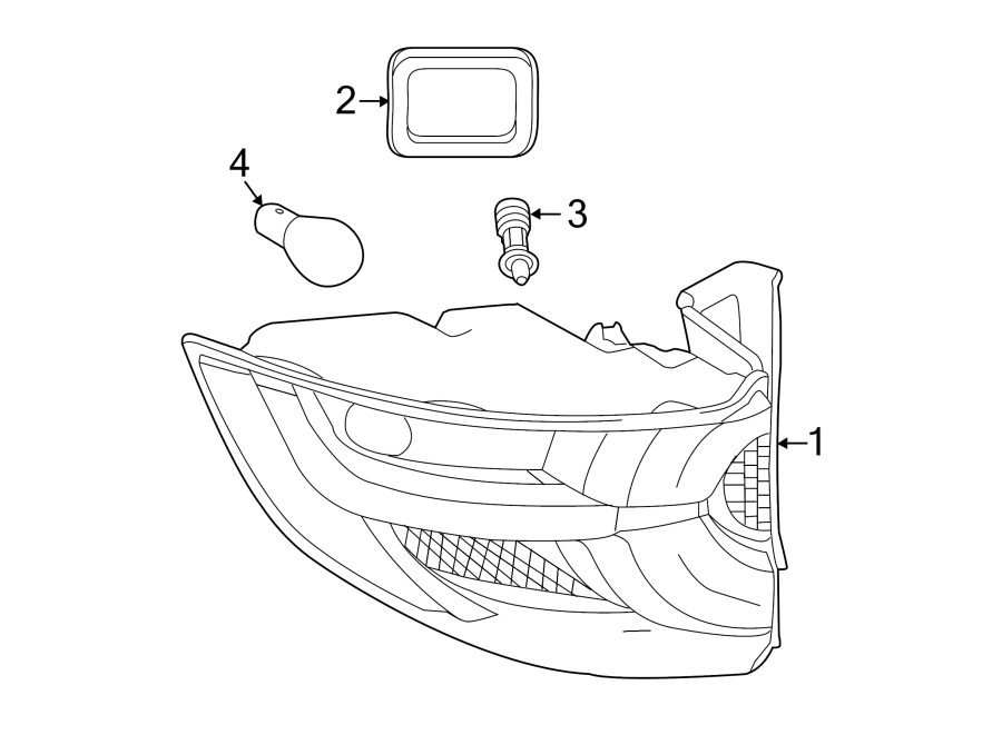 2017 Land Rover Discovery Sport Tail Light Gasket (Rear