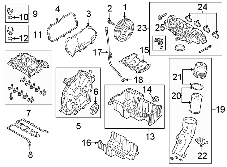 2018 Land Rover Discovery Sport Engine Oil Filter Element