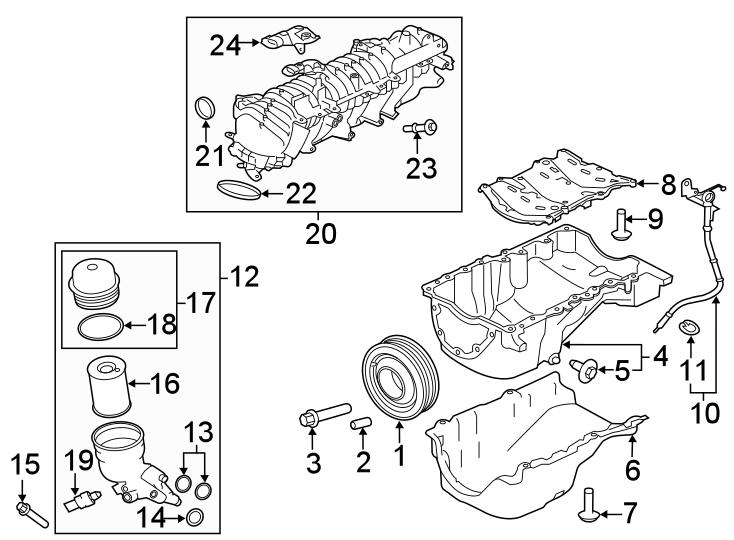 2018 Land Rover Range Rover Velar Pulley. Engine
