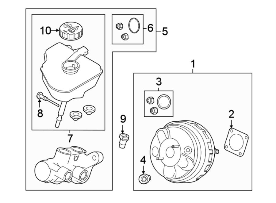 2015 Land Rover LR2 Kit. Cylinder. Master. Seal. Booster