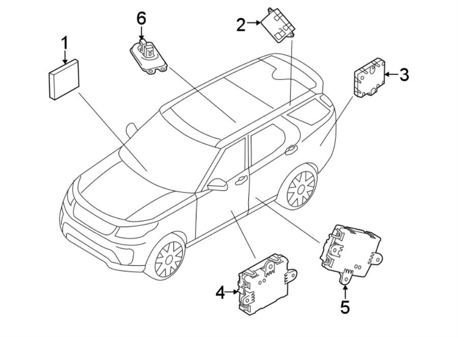 2018 Land Rover Range Rover Sport Door Control Module