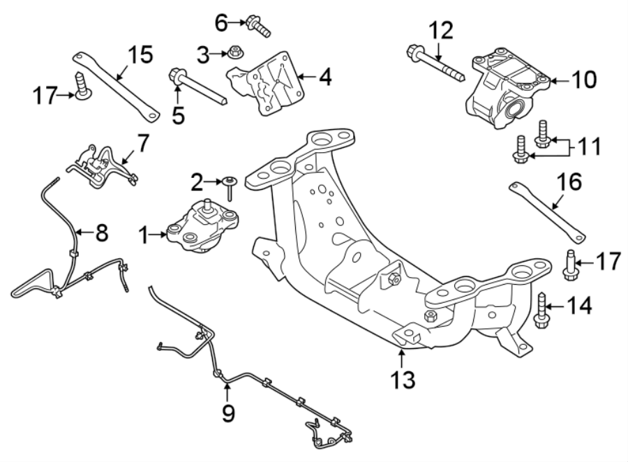 2018 Land Rover Discovery Transmission Crossmember Brace