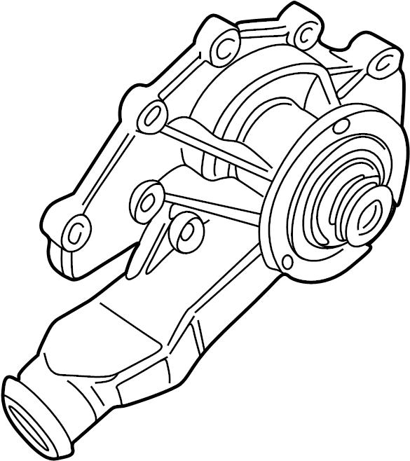 1997 Land Rover Defender 90 Engine Water Pump. PUMP