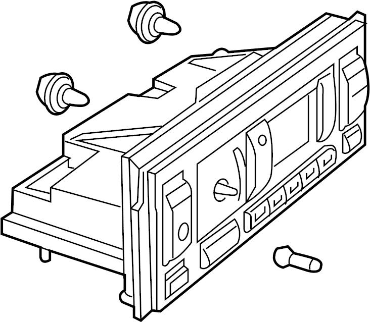 1998 Land Rover Range Rover Dash control unit. Heater